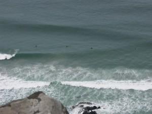 Surfing at Aramoana